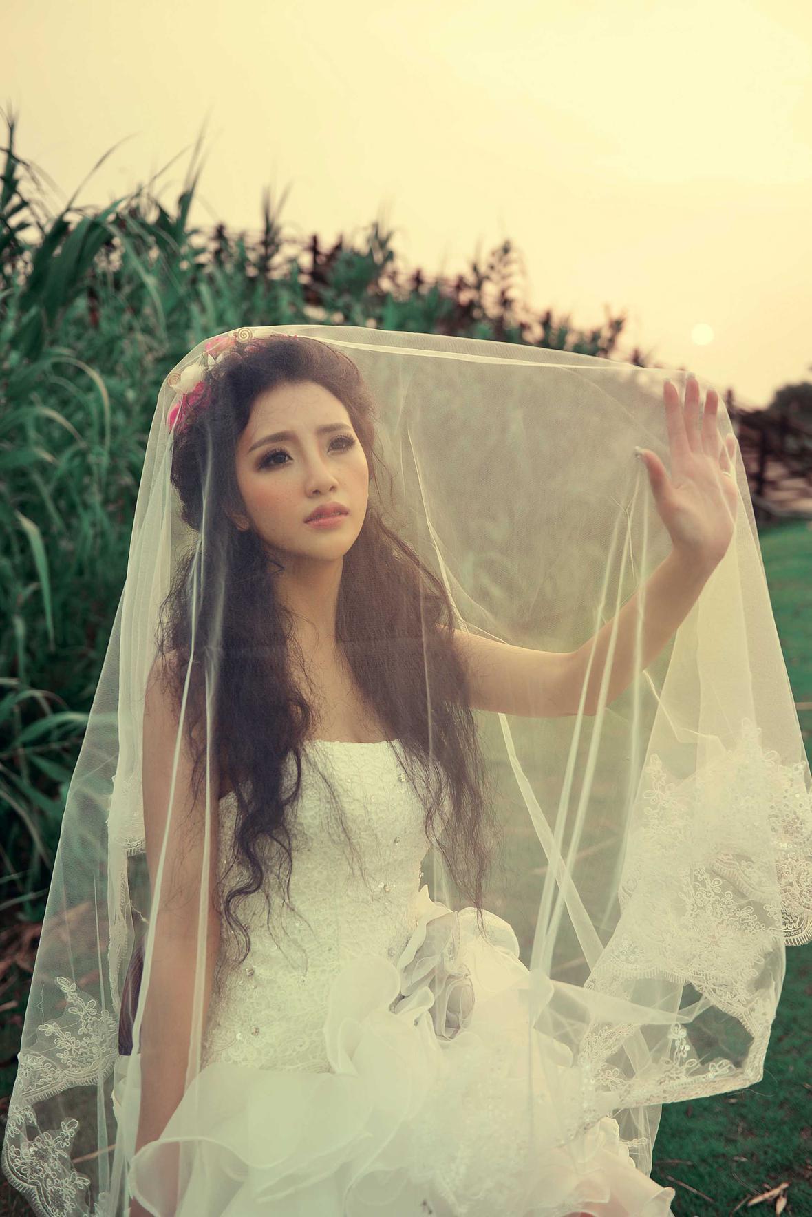 单人婚纱照